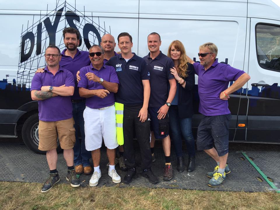 Jonnie and Mick from Hertford TV Service are proud to be involved with DIY SOS Big Build team in WGC